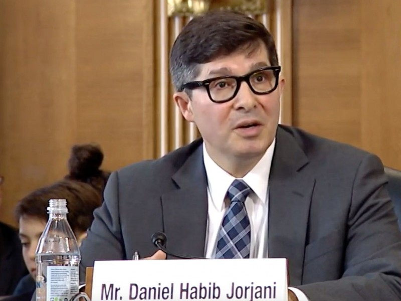 Daniel Jorjani, the nominee to serve as the Interior Department's top lawyer