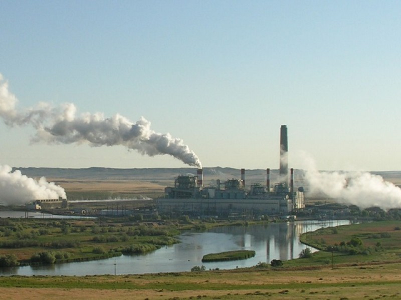 A coal-fired power plant in central Wyoming.