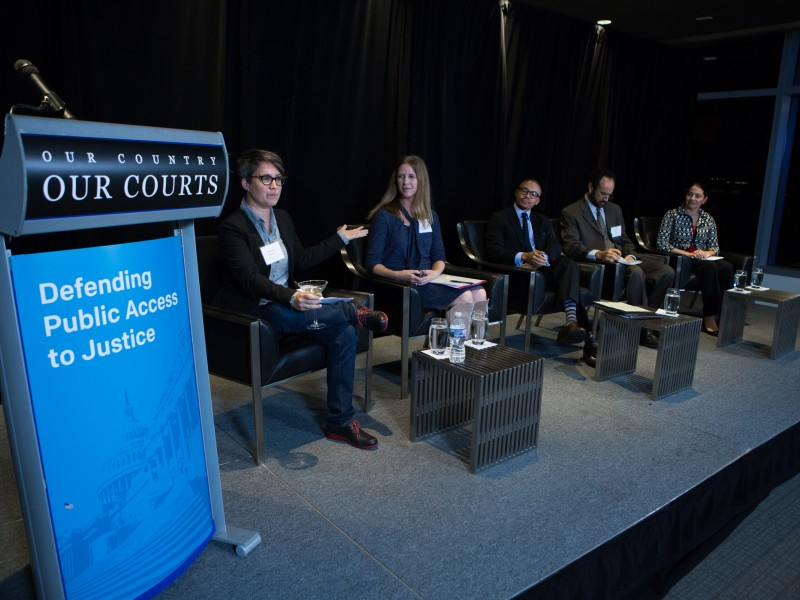 Our Country Our Courts panel