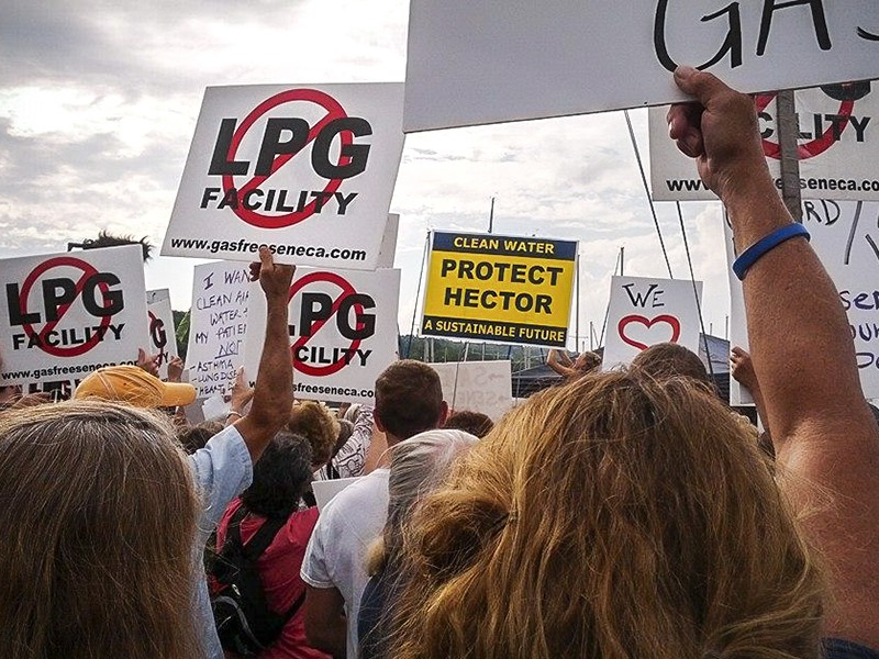 A protest against the proposed gas storage facility in Watkins Glen, NY, on July 14th, 2014.