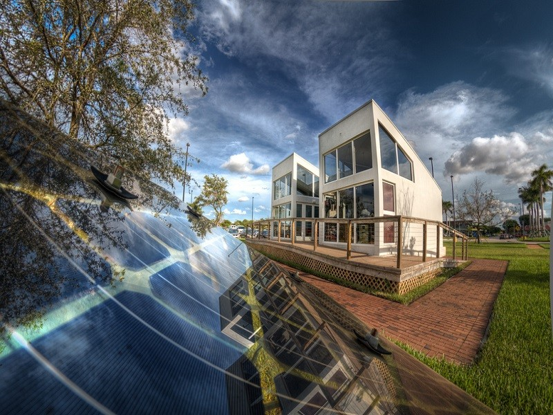 Florida International University Solar House at Engineering Campus.