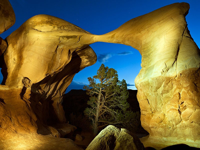 Certain sandstone arches in Utah emit a steady hum. The Trump administration's attempt to gut Bears Ears and Grand Staircase could stymie geologists who want to study the phenomenon.