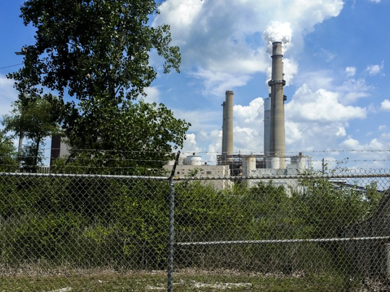 The Schahfer coal-fired power plant in Wheatfield, Indiana.