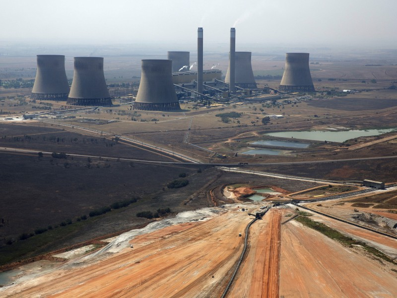 Kendal Power Station in South Africa's Mpumalanga Highveld, where the air is heavily polluted by coal-fired power plants.