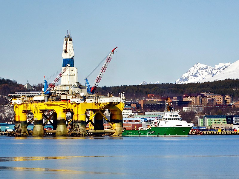 The Polar Pioneer is one of Shell Oil's drill rigs that may be coming to Seattle.