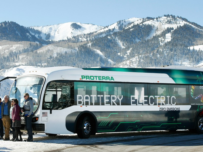 Proterra is one of several companies manufacturing electric buses in California.