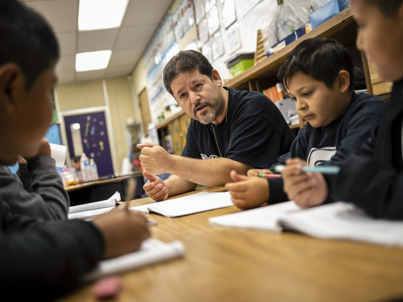 Third-grade teacher Oscar Ramos believes pesticide exposure is causing a spike in learning disorders among his students.