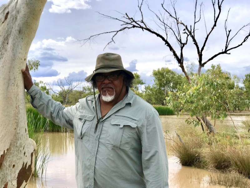 Wangan and Jagalingou cultural leader Adrian Burragubba visits Doongmabulla Springs in Australia. We're helping Australian indigenous peoples, including Burragubba, take their fight against a giant coal mine to the United Nations.