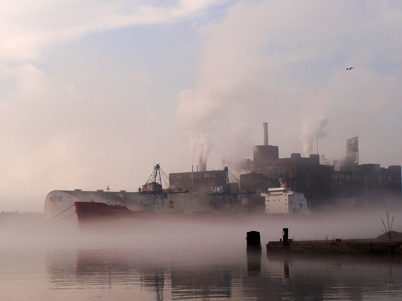 A foggy morning in Baltimore
