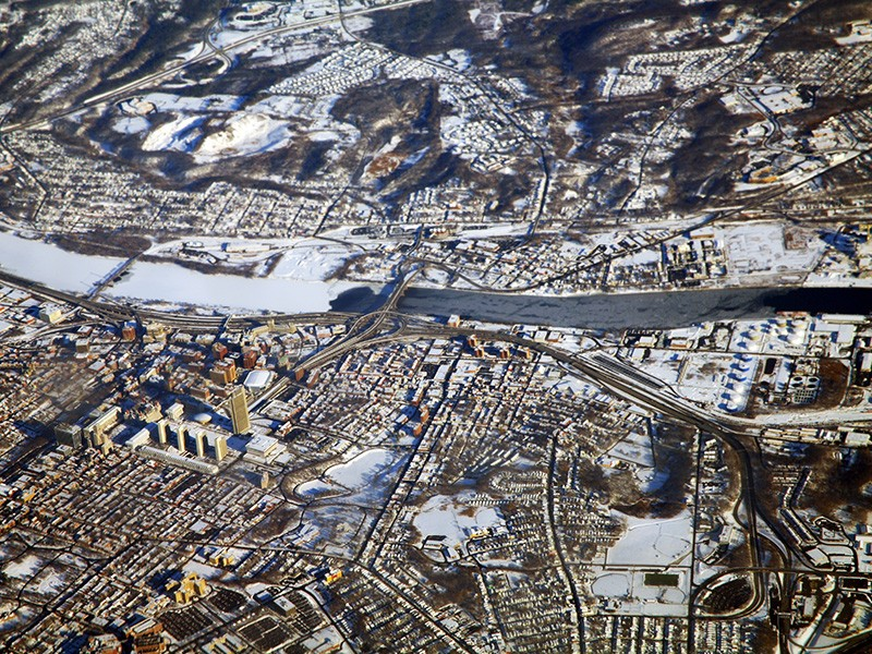 Aerial view of Albany, New York.