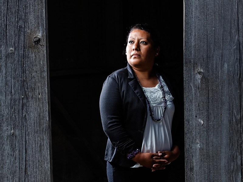 Andrea Hubbard is a former farmworker who now helps women protect themselves from pesticide exposure and domestic abuse.