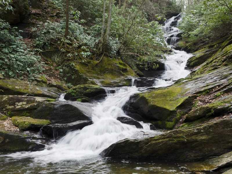 A waterfall in the Appalachian mountains