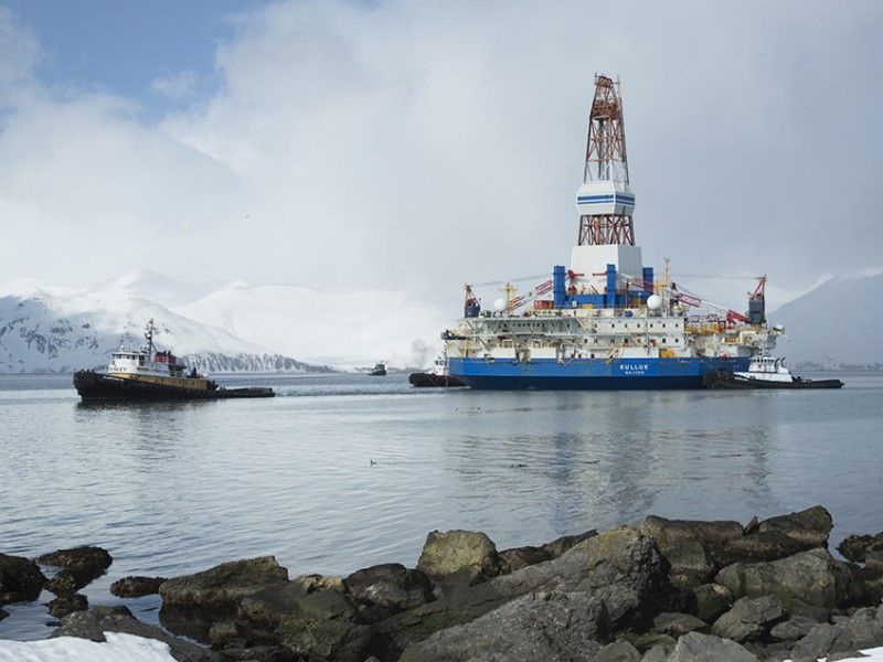 The Kulluk, one of Shell's oil drilling rigs  for the Arctic.