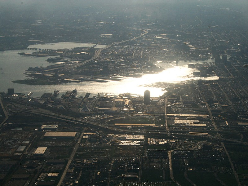 An aerial view of Baltimore.