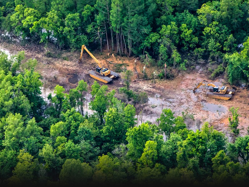 Construction is underway on the Bayou Bridge pipeline in Louisiana's Atchafalaya Basin, even though a state judge recently ruled that Energy Transfer Partners' use permit failed to consider the pipeline's impact on a nearby community.