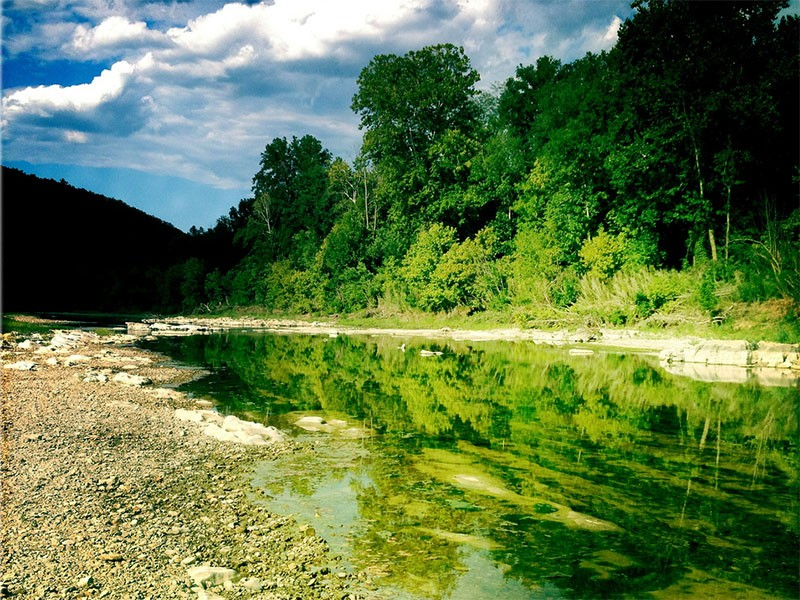 Buffalo National River is one of the few remaining undammed rivers in the lower-48 states.