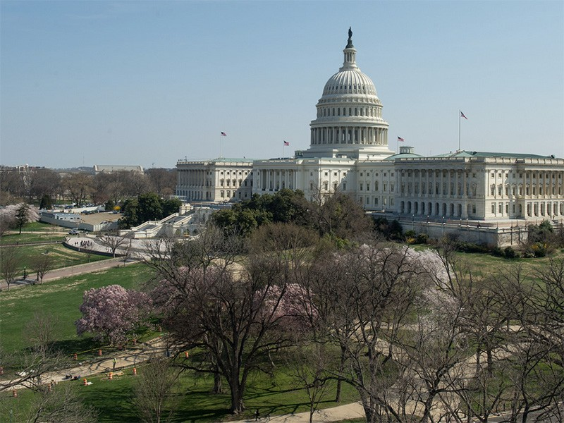 The U.S. Capitol building in early April of 2014.