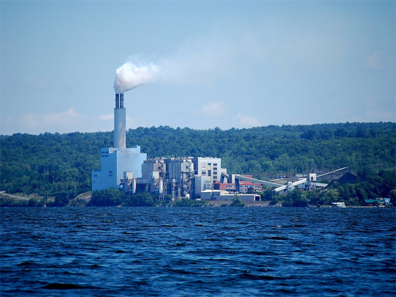 The Cayuga power plant.