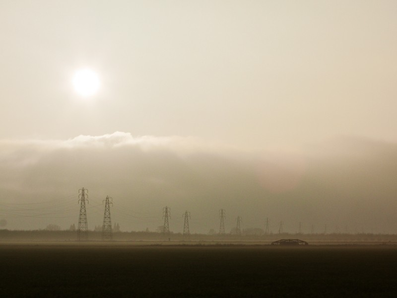 A smoggy day in California's Central Valley