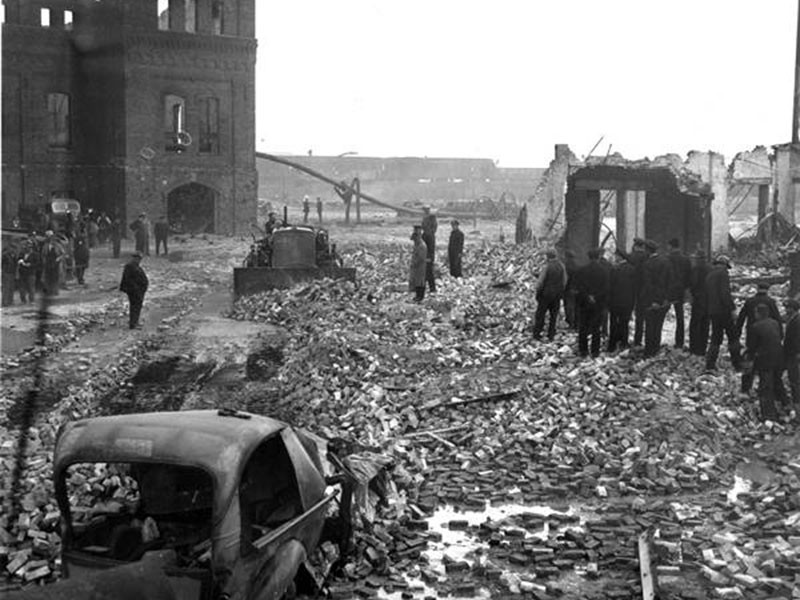 The aftermath of Cleveland's 1944 deadly liquefied natural gas disaster.