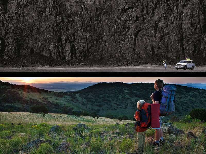 The Trump administration just got a public smack down for swapping out the Interior Department's homepage image from a beautiful park to a pile of coal.