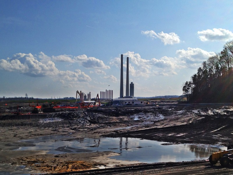 The massive coal ash disaster in Kingston, Tennessee.