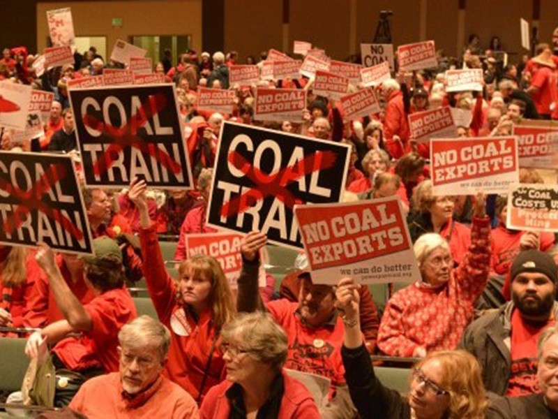 Community members who oppose the coal export terminal.