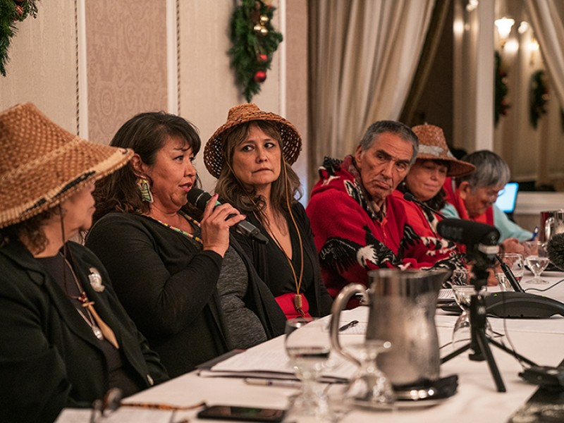 Coast Salish Tribe speakers at National Energy Board hearing
