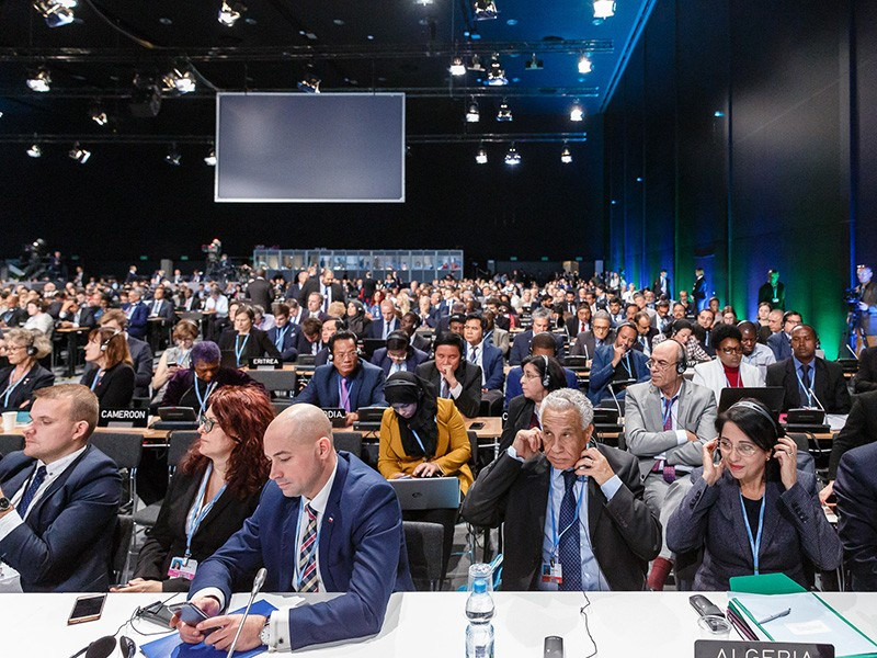 Delegates at the United Nations COP24 climate summit in Katowice, Poland, on Dec. 3, 2018.