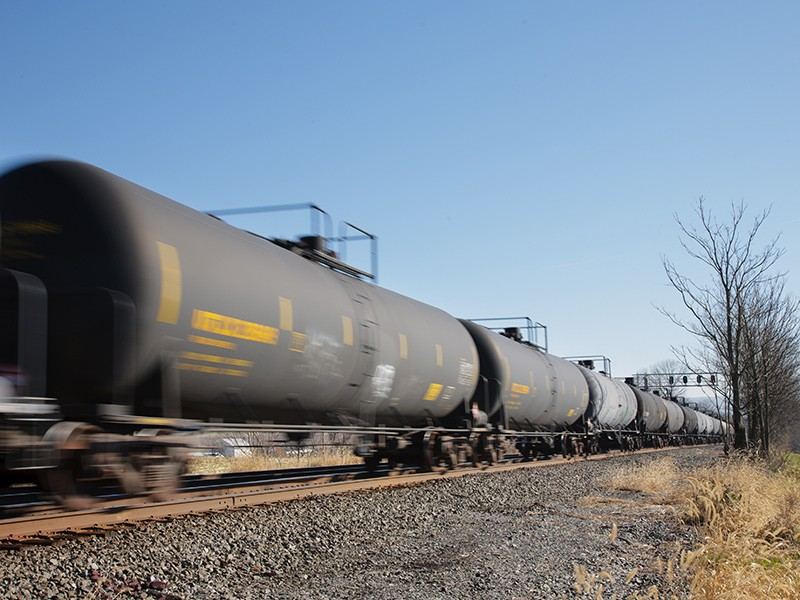 Crude oil train.