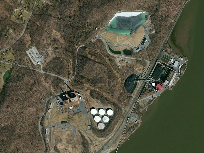 The Danskammer Plant is located along the shore of New York's Hudson River.