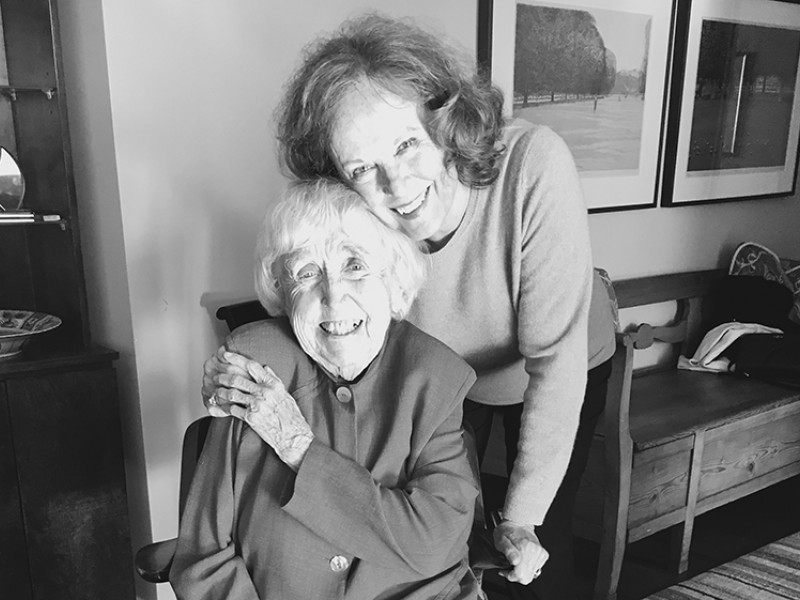 Photo of the late Elizabeth McCormack (seated on left) with fellow Earthjustice Trustee Elizabeth Sutherland
