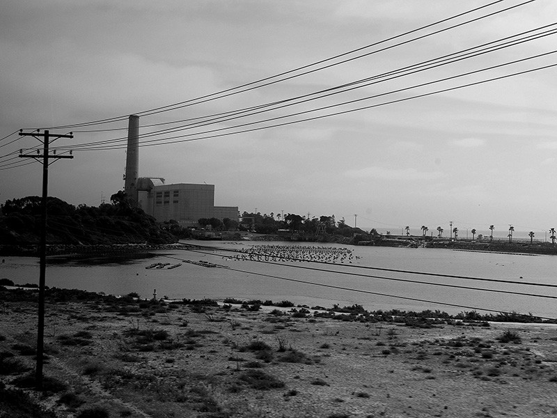 A fossil-fueled power plant in Carlsbad, CA.