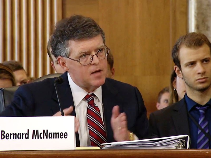 Bernard McNamee was confirmed by the Senate in December, 2018 to fill an open seat on the Federal Energy Regulatory Commission.