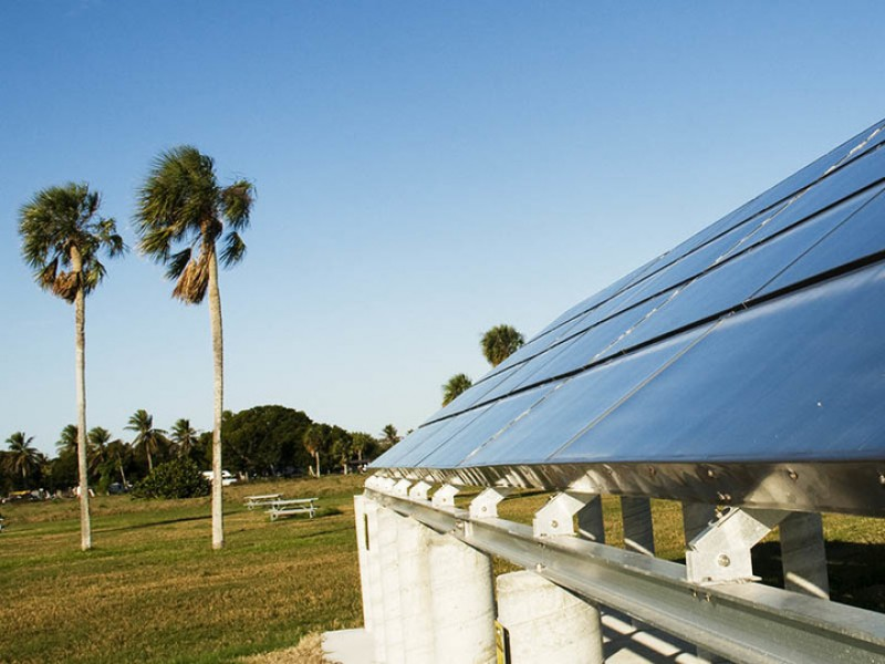 Solar Panels at campground in Everglades National Park in Florida.