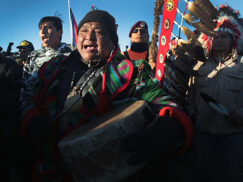 Tribes and allies gathered to defend Standing Rock Sioux territory from the Dakota Access Pipeline in 2016. A federal judge struck down the pipeline's permits on March 25, 2020, after years of litigation.Tribes and allies gathered to defend Standing Rock