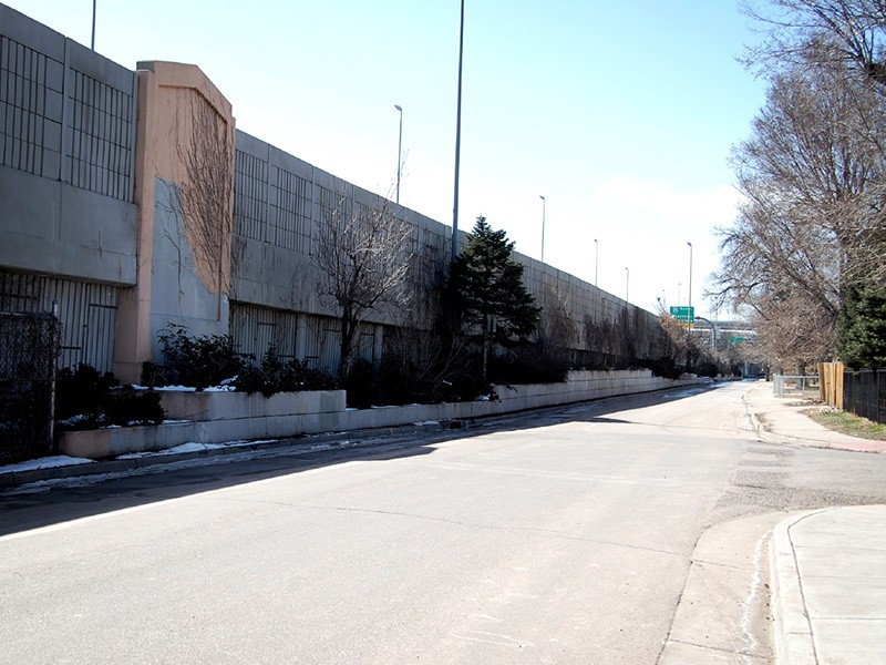 A view of I-70 from the Globeville neighborhood.