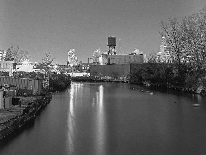 Gowanus Canal in Brooklyn, New York.