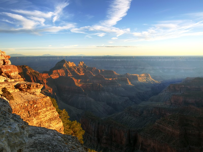 Air pollution is visible in this shot of the Grand Canyon.