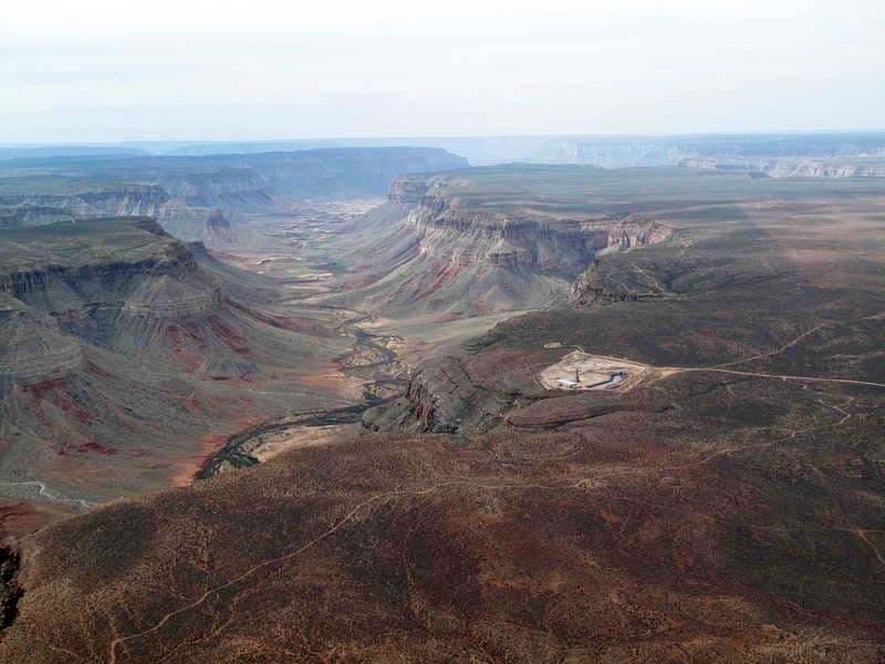 A uranium mine at the edge of the Grand Canyon.