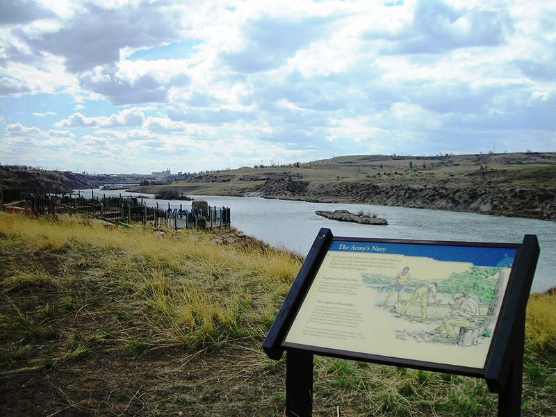 Great Falls, MT. The coal plant was to be built on top of the Great Falls Portage National Historic Landmark and Lewis and Clark National Historic Trail.