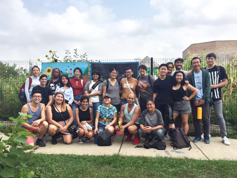 Members of Chicago Asian Americans for Environmental Justice gathered to learn about environmental issues in Chicago's Little Village neighborhood.
