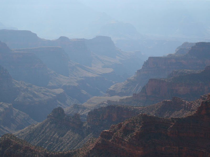 Haze in the Grand Canyon.