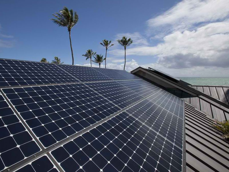 A solar panel installation in Hawaii.