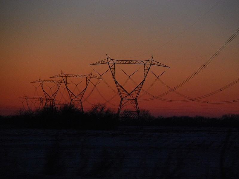 Transmission lines in Indiana.