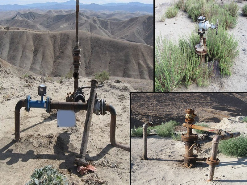 Oil industry wastewater injection wells.