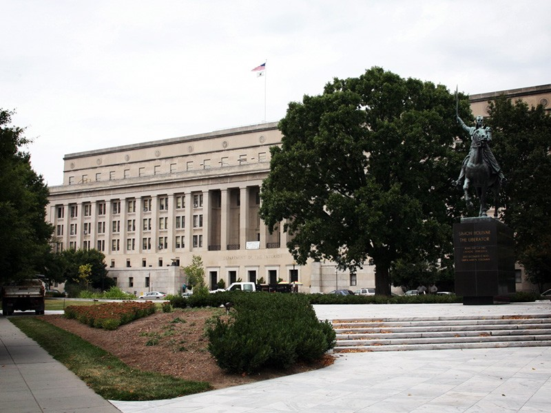 The U.S. Department of the Interior Building in Washington, D.C.