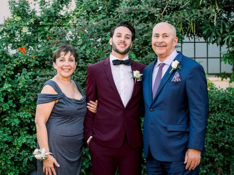 Earthjustice attorney Julian Gonzalez (middle) with his mother Jackie (left) and his late father Waldemar (right).