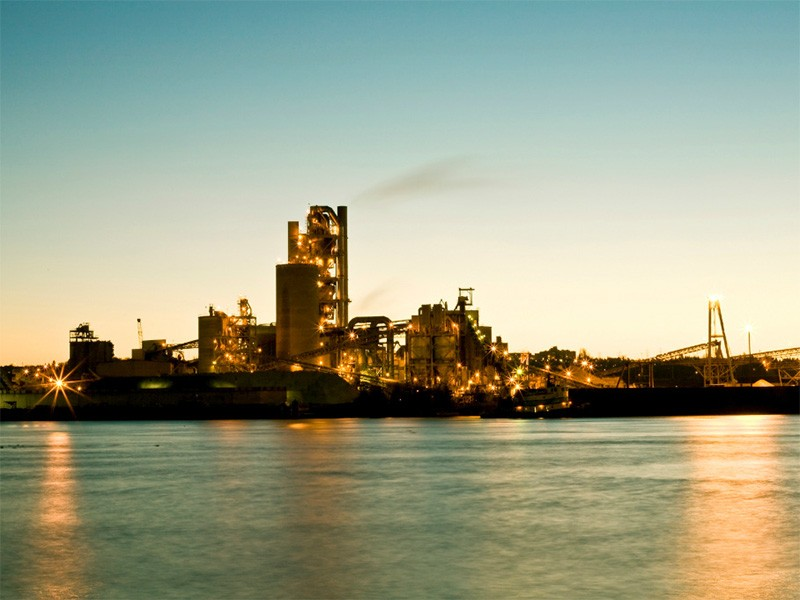 The Lafarge cement kiln in Seattle, WA.