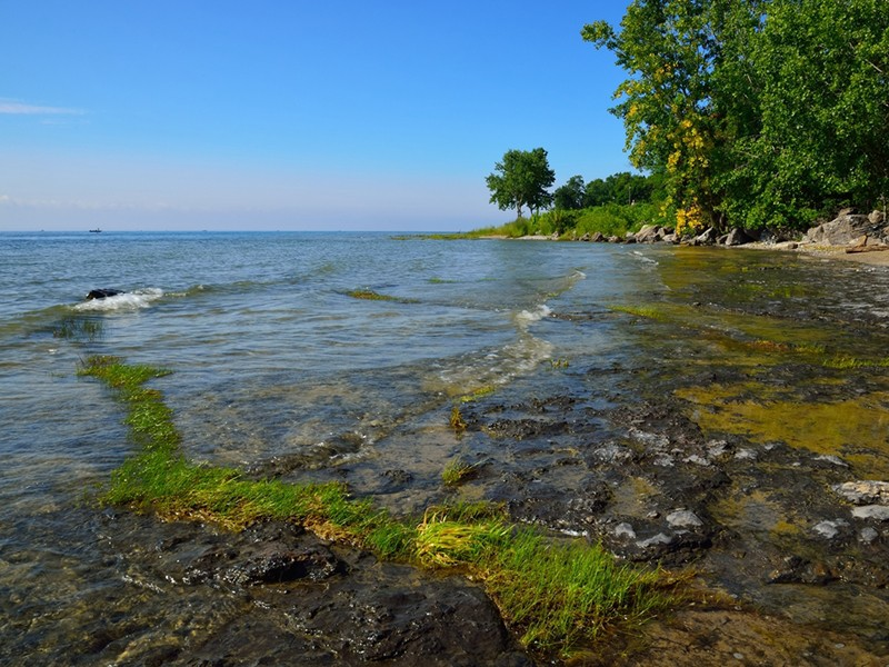 Margo Pellegrino recently made a solo journey from New York City to Chicago by canoe. She navigated through three of the five Great Lakes, including Lake Erie, above.